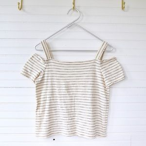Madewell cold shoulder tee Size XS  Bellamy Stripe